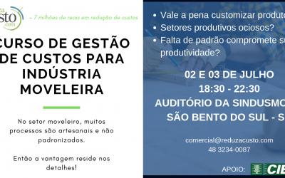 Curso Gestão de Custos para a Indústria Moveleira em São Bento do Sul