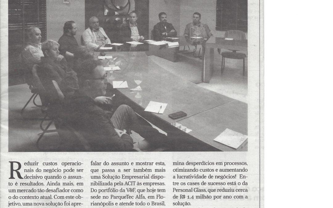 Matéria sobre o Reduzacusto.com é publicada em Tubarão/SC