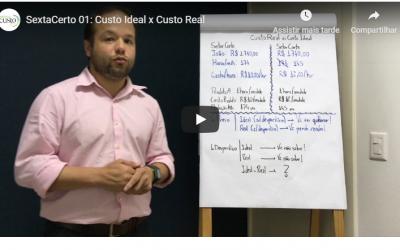 Sexta Certo 01: Custo Real x Custo Ideal